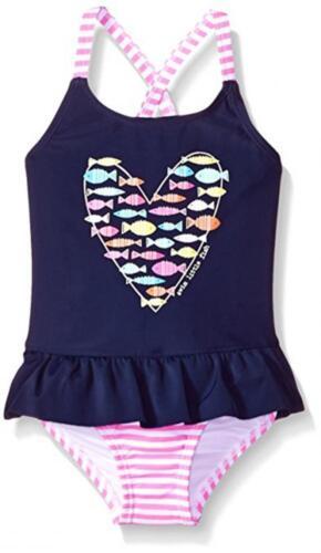 Kiko /& Max Infant Girls Peplum One-Piece Swimsuit Size 3//6M 6//9M 12M 18M 24M