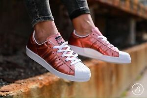 new arrival 2b116 aac79 Image is loading New-adidas-Originals-Superstar-BB2270-Copper-White-Women-