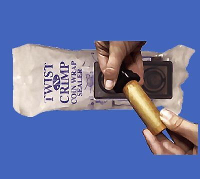 Penny TWIST-N-CRIMP Dime /& Quarter Wrapper Nickel NEW in sealed bag