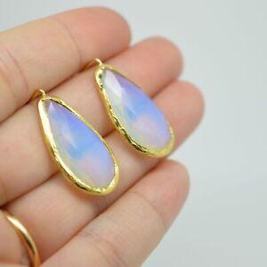 Aylas-gold-plated-semi-precious-gem-stone-earrings-teardrop-white-Moonstone