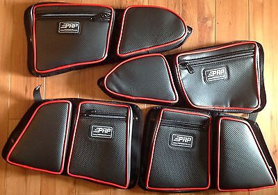 PRP Seats Door Bag w//Knee Pad PAIR RED Piping for Polaris RZR 1000 Set of 2