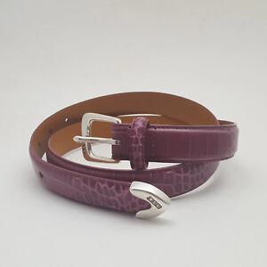 Ralph-Lauren-Pinkish-Purple-Faux-Alligator-Skin-Italian-Leather-Belt
