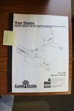 Landpride Rb0548 Rb0560 Rb1560 Rb1572 Rb1584 Rear Blade Operators Manual