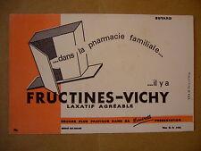 Ancien Matériel Scolaire-BUVARD FRUCTINES VICHY -13,5 x 21-Bon Etat,Pas Servi