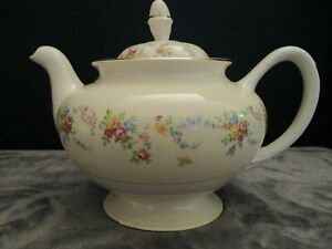 HOMER-LAUGHLIN-EGGSHELL-NATILUS-TEAPOT-DUBARRY-4-CUP-4-7-8-034-TALL