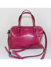COACH New York Pink Leather Small Shoulder Bag