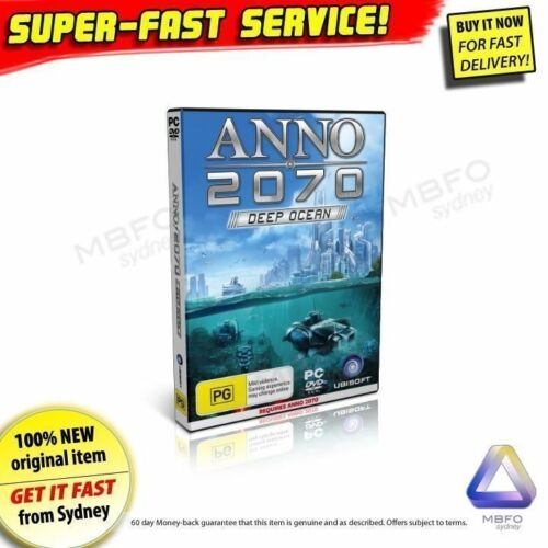 Anno 2070 Deep Ocean Expansion Pack for PC NEW addon game Windows RPG Strategy