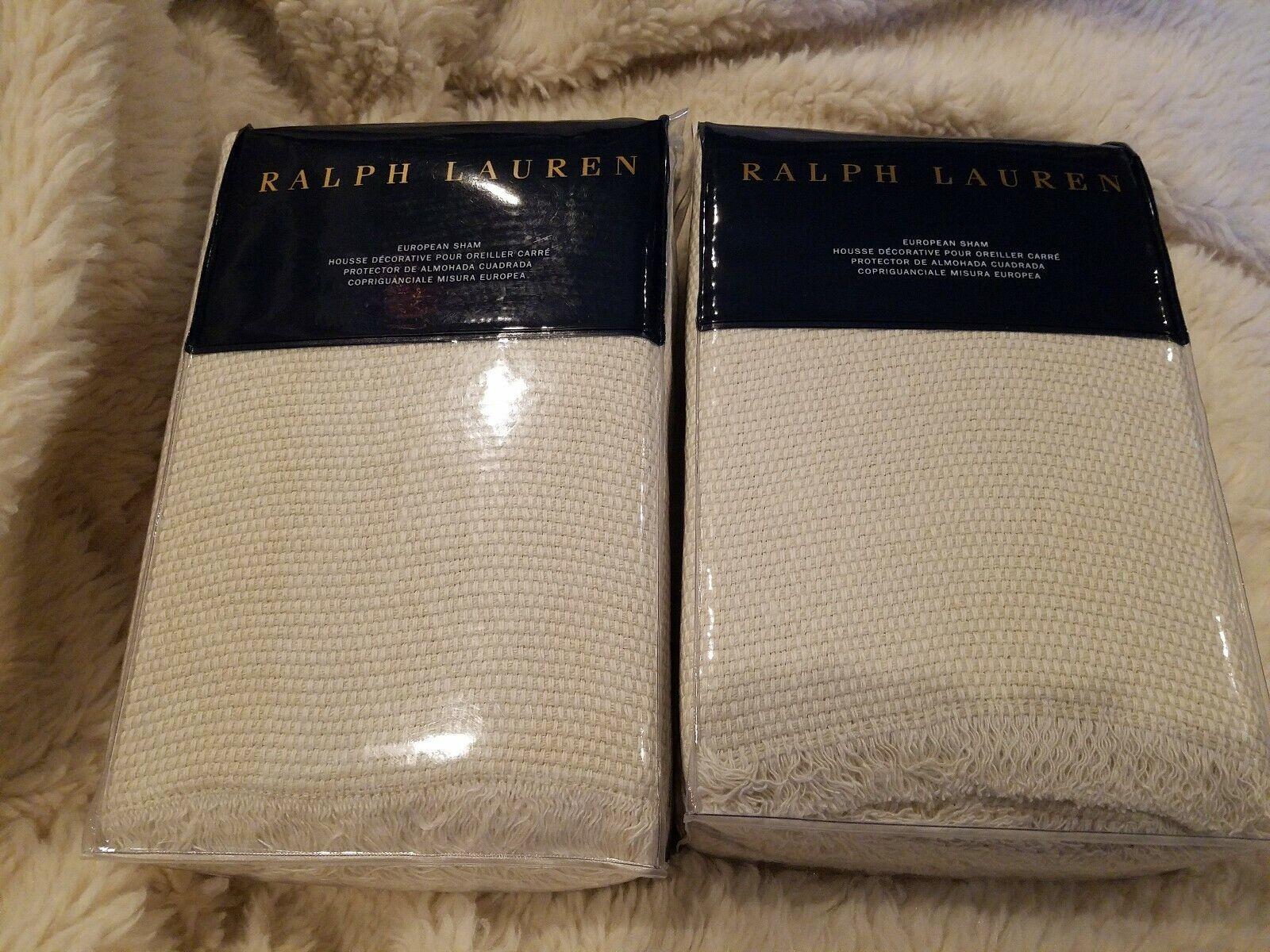 Ralph Lauren Home Lowden Euro Sham pair of 2 Lt Cream NEW  505 retail