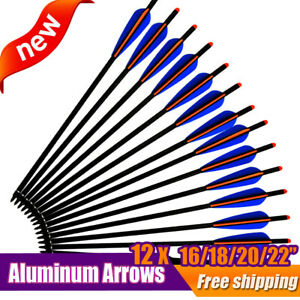 12X-16-18-20-22-Inch-Archery-Arrow-Aluminum-Crossbow-Bolts-Bow-Hunting-Shooting