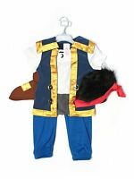 Boy Disney Store Jake & The Neverland Pirate Halloween Party Costume Size 4