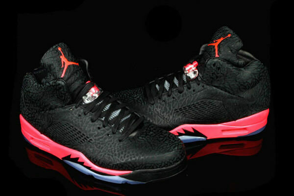 Nike Air Jordan Retro 5 3Lab5 Black/Infrared 23 599581-010 Sz 9.5