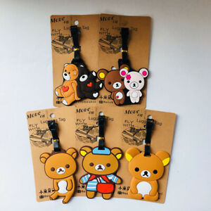 b23fa5adc070 Rilakkuma bear couple Travel Label ID Holder tags luggage tags ...