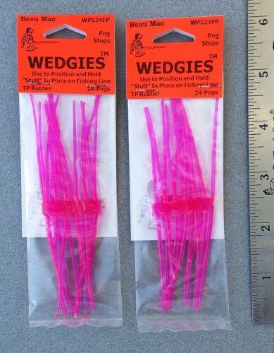 48 Beau Mac WEDGIES Peg Stops PINK WPS24FP Position Beads Drift Bobbers Etc