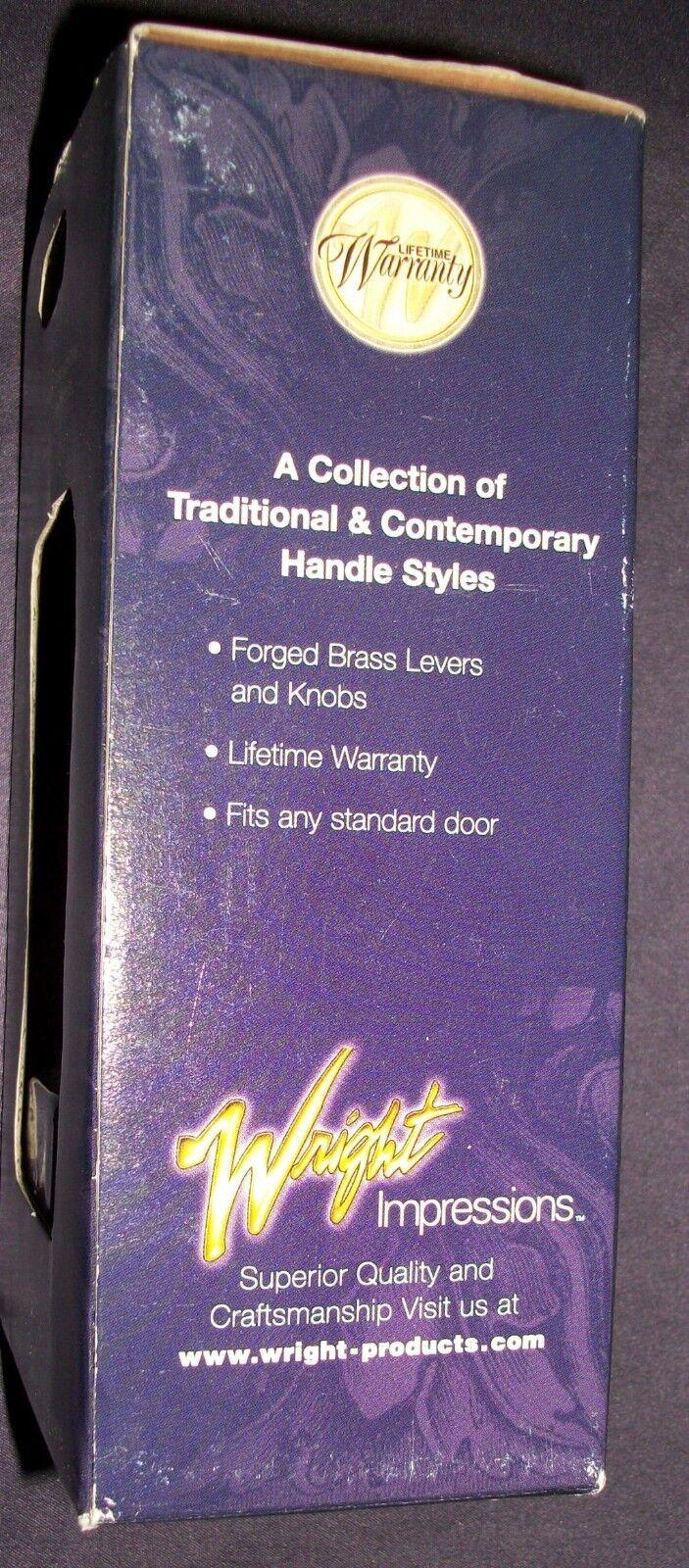Wright Impressions Solid Brass Stationary Door Knob Handle Set  #51023-149