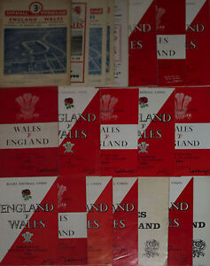 ENGLAND-v-WALES-RUGBY-PROGRAMMES-1954-to-1996-CHEAPEST-ON-EBAY