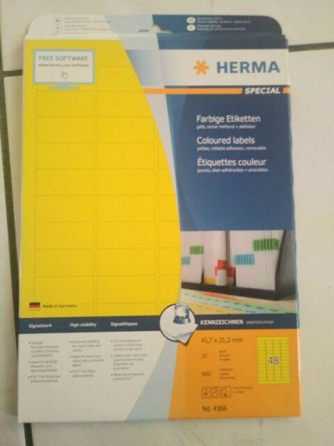 45,7 x 21,2 mm HERMA Typenschild-Etiketten SPECIAL silber