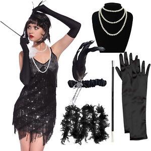 Details About 5pcs Set Fler Fancy 20s Dress Accessories Charleston Gangster Gatsby Costume