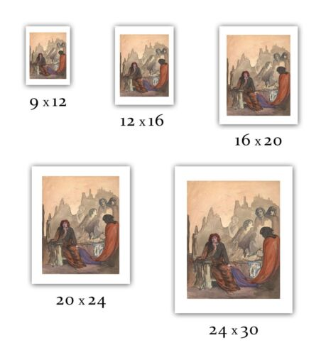 "— Giclee Fine Art Print ; occult /""Red Cloak/"" 1908 Pamela Colman Smith"