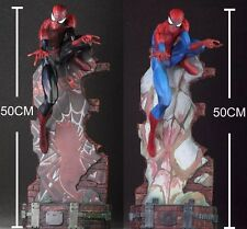 CRAZY TOYS spider man Marvel Hero Black spider man figure 50CM Scenes statue