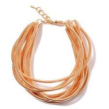 "Multi Strand Bracelet With Lobster Lock In Gold Tone Size 7""-8.5"""