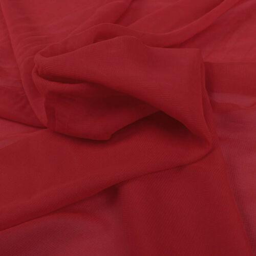 1 meter polyester chiffon fabric 100D Drape Bridal Wedding Dress 150cm wide