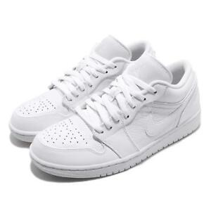 pretty nice c7130 8a1e6 Image is loading Nike-Air-Jordan-1-Low-I-AJ1-White-