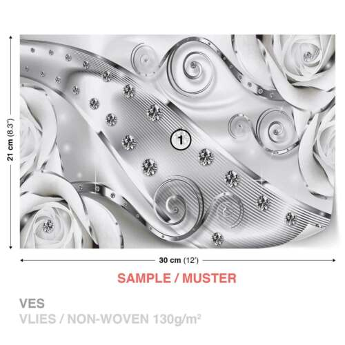 2613WS FOTOTAPETE VLIES FOTOMURAL XXL Blumen Rosen Abstrakt Modern