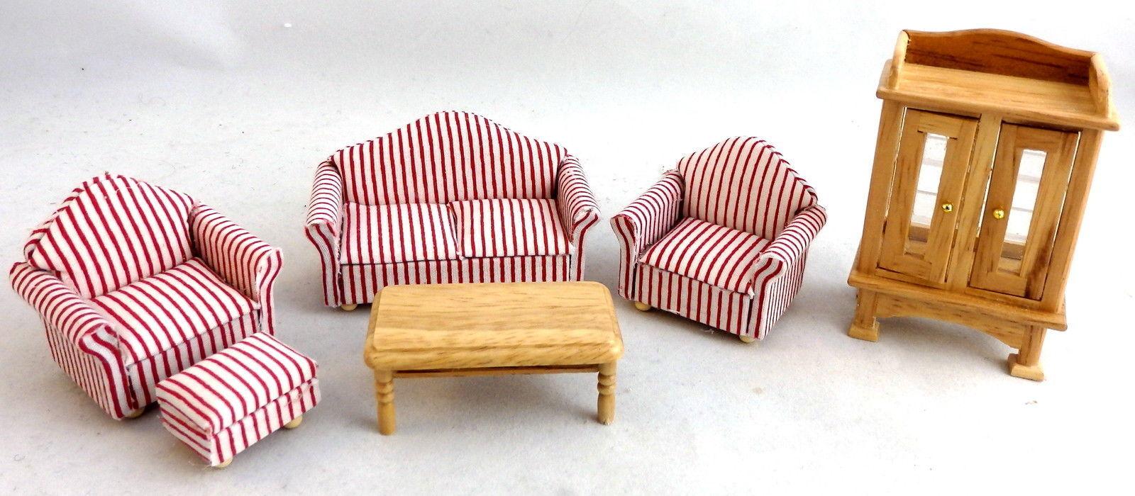 Melody Jane Puppenhaus 1:24 Miniatur Eiche Lounge Wohnzimmer Möbel