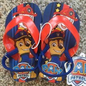 c3cf5ca5fa809 NEW Toddler Boys PAW PATROL Size Small 5-6 Summer Shoes Flip-Flops ...