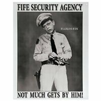 Barney Fife Security Agency Retro Metal Poster Tin Sign