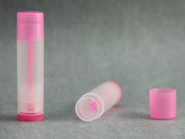 1/5/10/50/100 Colored+Clear Empty LIP BALM Containers Tubes + Caps Lipstick