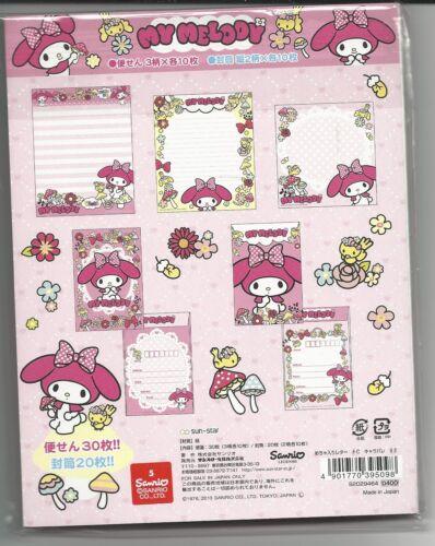 Sanrio My Melody Stationery Set With Envelopes