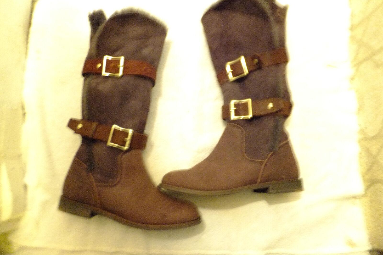 Emu  Austrailia Women's Chocolate Brown Sheepskin  Boot M NEVER WORN