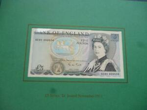 Debden-C100-LAST-amp-FIRST-5-NOTES-GILL-SE90-amp-A01-MATCHING-SERIALS-UNCIRCULATED