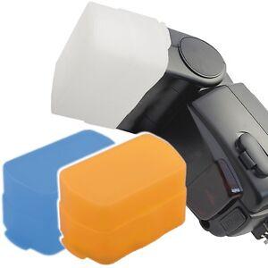 3x Diffuseurs Diffuseur Adapté Pour Canon 580ex & 580 Exiie & Yn 565ex & Yn565 Exiie-afficher Le Titre D'origine