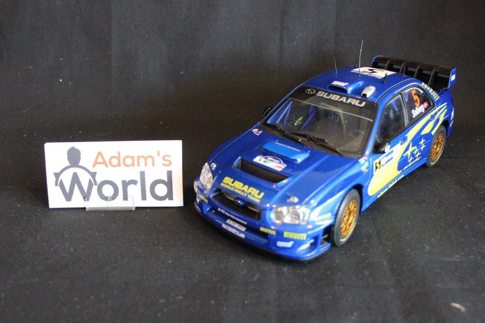 AutoArt Subaru Impreza S11 WRC '05 1 18  5 Solberg   Mills Rally Mexico (JvdM)