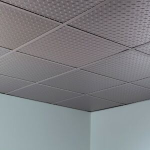 Image Is Loading Fasade Diamond Plate Revealed Edge Lay In Ceiling