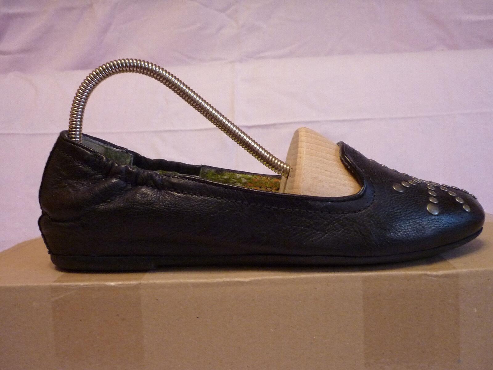 Mjus-schwarze Ballerinas Niete Leder 37 Abs-2