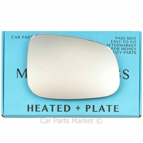 Plate Right Driver Side Wing Door Mirror Glass for JAGUAR XF 2008-on Heat