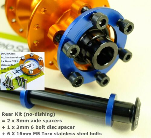 VeloSolo UK BOOST HUB ADAPTER Conversion Spacer KIT 100mm 110mm 142mm 148mm Axle