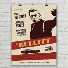 Steve McQueen Bullitt Movie  Art Silk Poster 12x18 24x36