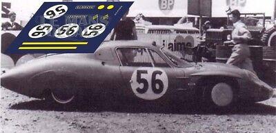 Candido Calcas Alpine M65 Le Mans Test 1966 56 1:32 1:24 1:43 1:18 Slot Decals