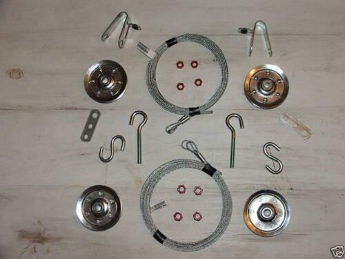 Garage Door Extension Spring Tune Up Kit 7/' Door Cable Pulleye Overhead Doors