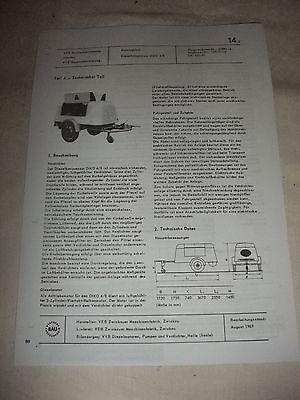 Business & Industrie Stetig Ddr Werbung Reklame Prospekt Datenblatt Dieselkompressor Diko 4/8 Veb Zwickau 69 Zur Verbesserung Der Durchblutung