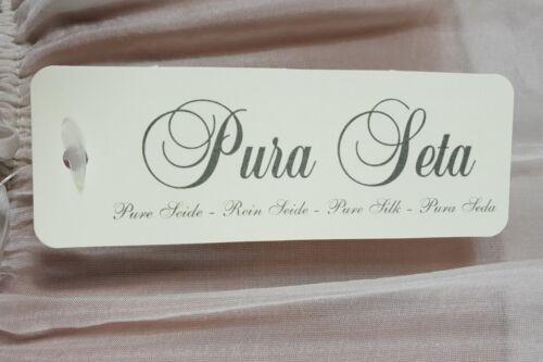 "NEU /""PURA SETA/"" ITALY ZARTE 100/% SEIDE TUNIKA KLEID VOLANTKRAGEN WEIß 36-42"