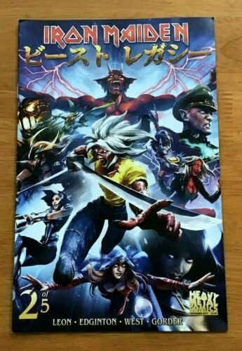 OF 5 CVR B KEVIN TONG VAR METAL VF//NM IRON MAIDEN LEGACY OF THE BEAST #2