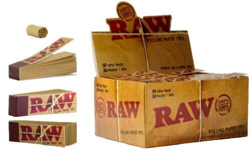 Raw Filtrini Lotto di 10 Blocchetto x 50 Filtri Cartone Cartine