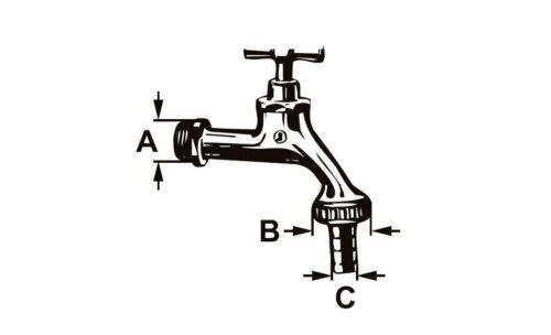"""Cornat Auslaufventil Wasserhahn mit Knebelgriff 1//2/"""" Messing matt-verchromt"""