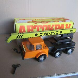 jouet ancien camion ak 25 grue ussr oural atz 10 4320 cccp l 26 cm ebay. Black Bedroom Furniture Sets. Home Design Ideas