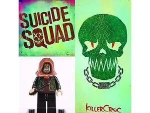 Fit lego Marvel Super Hero Killer Croc B Mini Figure Avengers,Spiderman,Batman